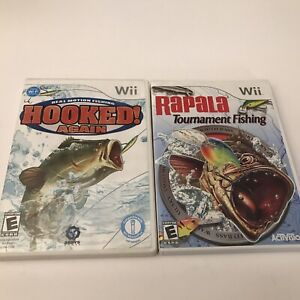 Hooked Again: Real Motion Fishing Rapala Tournament Nintendo Wii COMPLETE Lot
