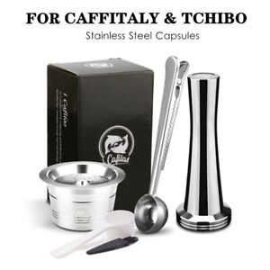 For Verismo K FEE CBTL Refillable Coffee Capsule Pod Filter Stainless Steel Set
