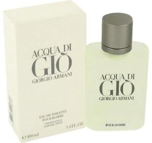 Aqua Di Gio Cologne by Giorgio Armani 3.4 100 ml. Spray for Men EDT. **NIB** $41.99