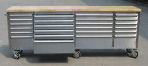 NEW 8FT SIEBEL STAINLESS STEEL TOOL BENCH