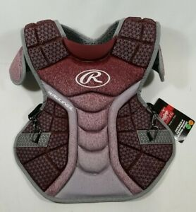 Rawlings Youth Catchers Chest Protector Burgundy for Ages 9 12 FREE SHIP