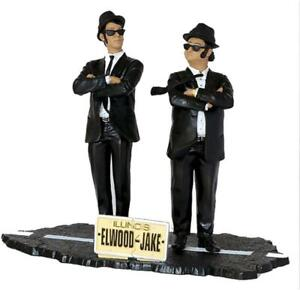 The Blues Brothers Elwood amp; Jake Blues Figures Set Official SNL 80s 7G42zo1
