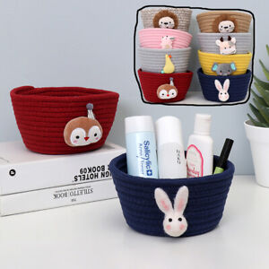 DIY Storage Holder Desktop Organizer Foldable Basket Storage Basket Woven C $16.49