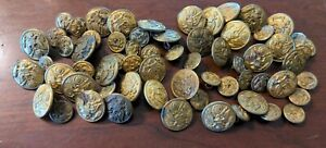 60 Antique Military Brass Buttons Great Seal USA Scovill amp; Waterbury $29.00