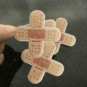 Sewing on Badge Sticker Apparel Applique Band aid Patch Fabric Q0L1 Iron on K4J2 C $1.55