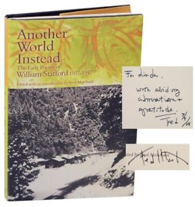 Fred Marchant ANOTHER WORLD INSTEAD THE EARLY POEMS OF WILLIAM Signed #154669 $57.50