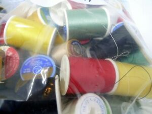 Estate Bag Full Of Used Vintage Thread and Spools $9.99