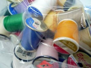 Estate Bag Full Of Used Vintage Thread and Spools Lot 2 $9.99