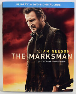 THE MARKSMAN BLU RAY DVD Digital Code Slipcover NEW SEALED Liam Neeson $21.50