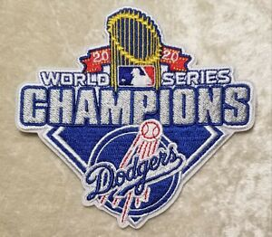 LA Dodgers 2020 World Series Champs 4 Iron Sew On Embroidered Patch FREE SHIP $5.95