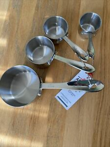 NEW All Clad Stainless Steel 4 piece Standard Size Measuring Cup Set
