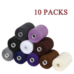 10 Color Spools Sewing Thread Sets Mixed Cotton for Sewing Machine 1000 Yards $8.99
