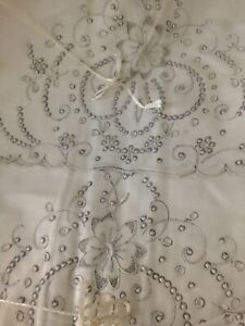 NOS Vintage Made in Madeira Portugal Hand embroidered Pillow Cases 2 36quot;x20quot; $35.00