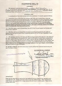 Daryl Patterson Signed Contract 1968 Detroit Tigers World Series Autographed $450.00