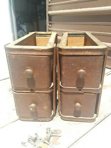 ANTIQUE SINGER TREADLE SEWING MACHINE DRAWERS $49.99