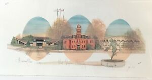 New. PBuckley Moss offset lithograph of West Virginia University.  $30.00