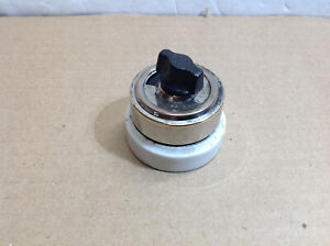 Antique ON OFF Turn Electric Switch Nickel Cap White Porcelain Base 1920#x27;s $20.99