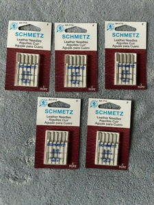 LOT OF 25 SCHMETZ LEATHER NEEDLES 130 705 H LL 90 14 1715 NEW $17.99