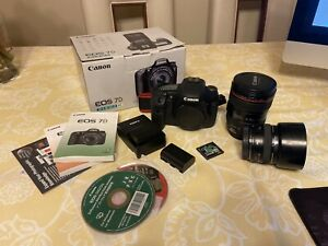 Canon 7d body With 2 Lenses 28 105mm 50mm 1.4F