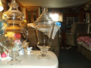 Clear Glass Apothecary Jar With LidFooted Wedding Candy Buffet18 1 2Tall