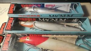 3 new 5 1 2quot; Magnum Floating Rapala Balsa Finland Fishing Lure Tackle