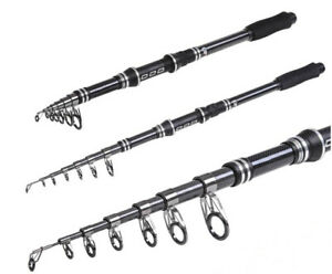 Carbon Fishing Rods Travel Telescopic Fishing Poles Spinning Fishing Tackle Rock