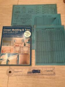 CROWN MOLDING amp; COMPOUND CHARTS AND BOOK $25.99