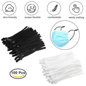 100 PCS Sewing Elastic Band Cord with Adjustable Buckle for DIY Mask WHOLESALE $9.95