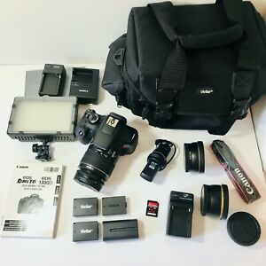 Canon EOS Rebel T6 Digital SLR Camera with Extra Lens amp; Accessories BUNDLE