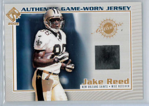 2002 PACIFIC PRIVATE STOCK RESERVE JAKE REED GAME WORN JERSEY CARD