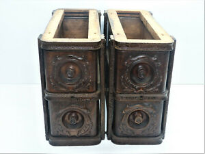 Set of Singer Treadle Sewing Machine Drawers in Case INV15014 $75.00