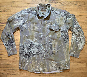 Prairie Ghost Ultimate Camouflage by Frontier Legend Button Down Shirt Mens L G