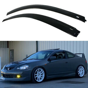 Fits 2002 2006 Acura RSX Coupe DC5 Type S Dark Tinted Window Visors Rain Guard $23.30