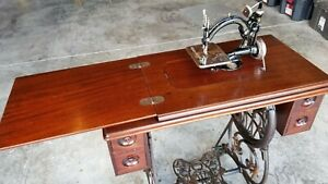 Wilcox and Gibbs Antique Sewing Machine and Table Restored $599.00
