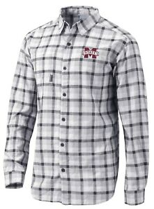 Columbia Mississippi State Bulldogs Mens Under Exposure Shirt $75 NWT $31.49