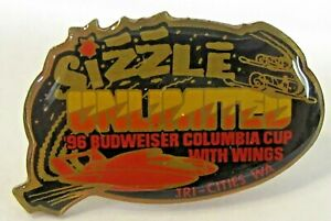 1996 BUDWEISER COLUMBIA CUP SIZZLE tack pin pinback Hydroplane Boat race c3 $14.99