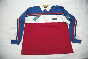 Vintage Wrangler Extreme Sport Shirt Long Sleeve L Cowboy Rodeo Striped Red Blue $44.99