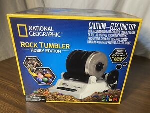 NATIONAL GEOGRAPHIC Rock Tumbler Kit Hobby Edition 9 Gemstones Learning Guide $44.00