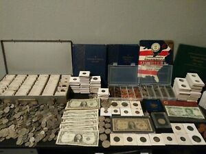 ESTATE COIN COLLECTION SALE SILVER OLD US COINS FOREIGN COINS $45.99