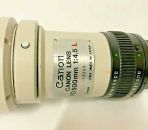 Canon Lens FD 500mm 1:45L Japan and Carrying Case