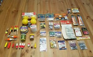 Fishing Supplies Bundle – Bait Lures Hooks Line Items Bobbers and Weights