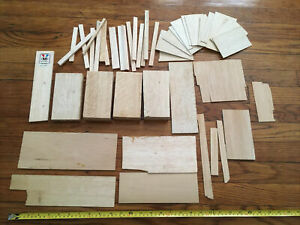 LOT PIECES BALSA LUMBER WOOD MODEL R C DOLL HOUSE FISHING LURE AIRPLANE