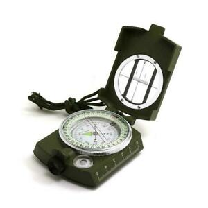 New Professional Military Army Metal Sighting Compass BEST Camping Hiking Q8Z4