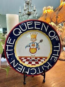 Mary Engelbreit Queen of the Kitchen plate 11 5 8 tall