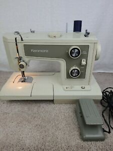 Vintage Sears Kenmore Portable Sewing Machine Model 148 with Case $55.74