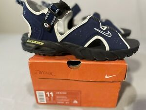 Nike Air Vintage Sandals RS 9000 Sz 11 Blue with White $84.95
