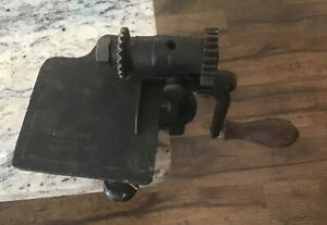 Schul Sons Hand Crank Pinking Shears Antique Vintage Sewing Machine Cast Iron $80.00