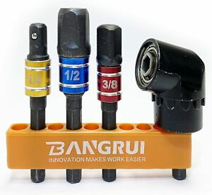 Bangrui BT2005 105 ° Right Angle Drill Bit Adapter Attachment 3Pcs Socket to Dr $15.99