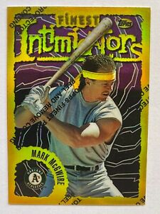 1996 Topps Finest Gold Refractor MARK McGWIRE #74 As Slugger $89.99