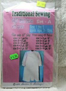 Traditional Sewing Girls Waist Dress with Aprons Size 1 5 $4.99